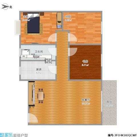 华龙太乙城3室1厅1卫1厨99.00㎡户型图