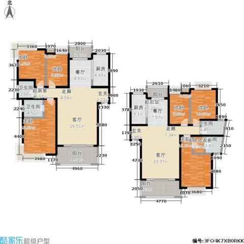 中建桂苑6室0厅4卫2厨217.15㎡户型图