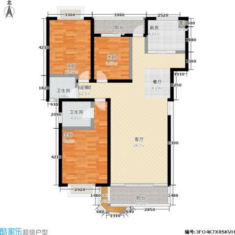 鑫天鑫城3室0厅2卫1厨120.00㎡户型图