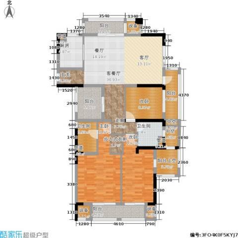 天阳云筑3室1厅2卫1厨138.00㎡户型图