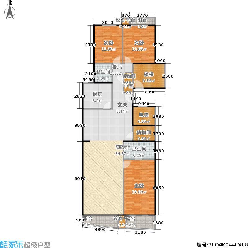 远见名苑170.46㎡三期花园鉴筑F户面积17046m户型