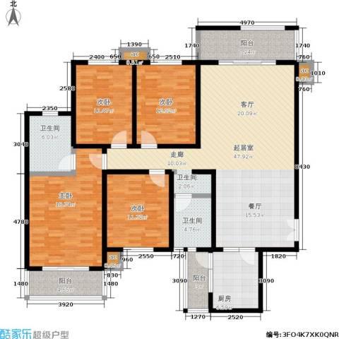 白沙湾嘉园4室0厅2卫1厨159.00㎡户型图