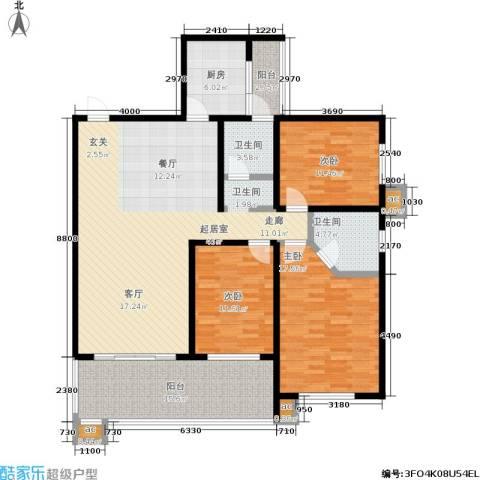 白沙湾嘉园3室0厅2卫1厨119.62㎡户型图