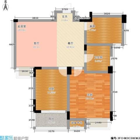 天运花园2室0厅1卫1厨84.00㎡户型图