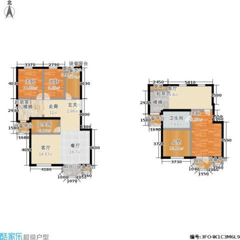 中海城圣朝菲3室0厅2卫1厨236.00㎡户型图