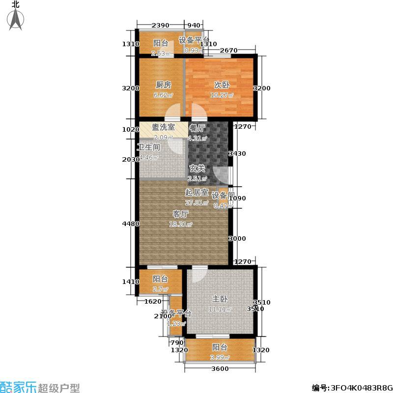 西马金润家园94.16㎡A2面积9416m户型