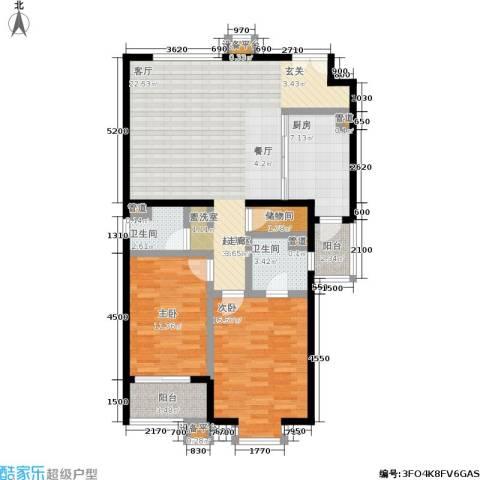 世桥国贸公寓2室0厅2卫1厨124.00㎡户型图