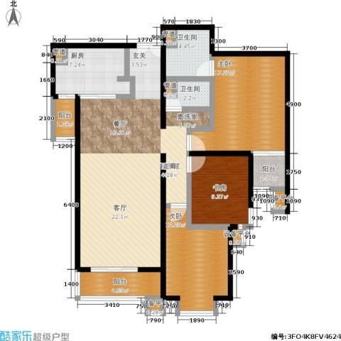 世桥国贸公寓3室0厅2卫1厨154.00㎡户型图