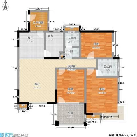 尚东紫郡3室0厅2卫1厨115.00㎡户型图