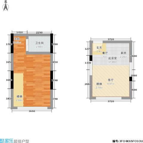 筑石派1室0厅1卫0厨56.00㎡户型图
