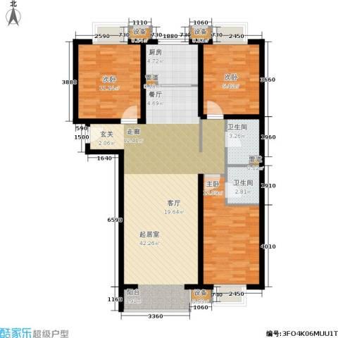 夏威夷・蓝湾3室0厅2卫1厨129.00㎡户型图