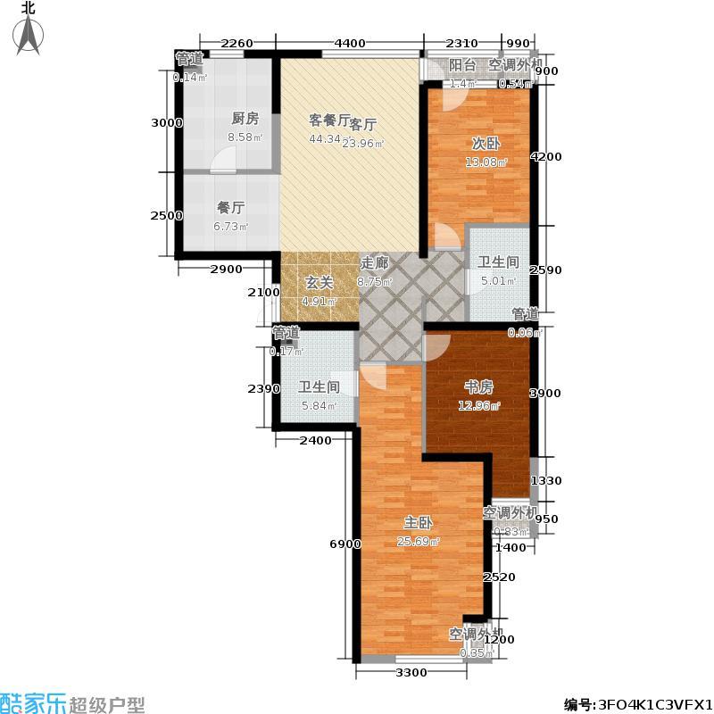嘉美风尚中心162.03㎡1号楼C面积16203m户型