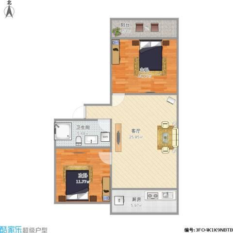 新龙科技园2室1厅1卫1厨91.00㎡户型图