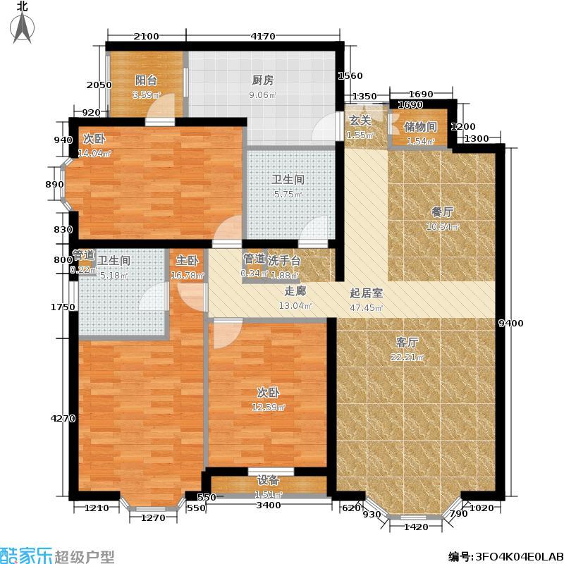 蓝堡国际公寓162.79㎡北区L面积16279m户型