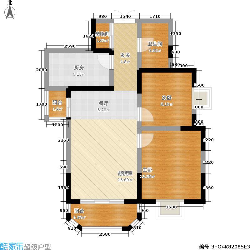 香克林小镇92.47㎡10号楼3单元/11号楼1单元户型