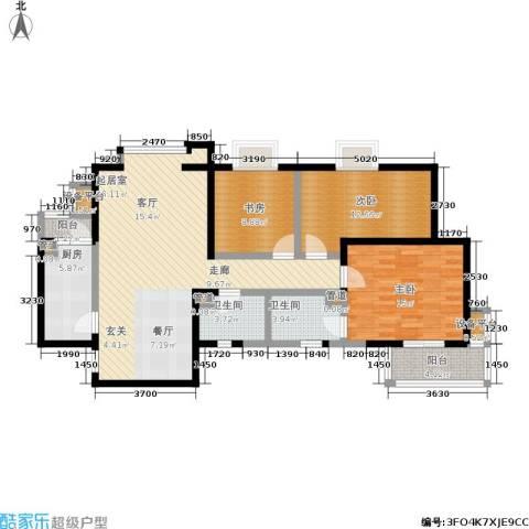 金桥太阳岛3室0厅2卫1厨110.00㎡户型图