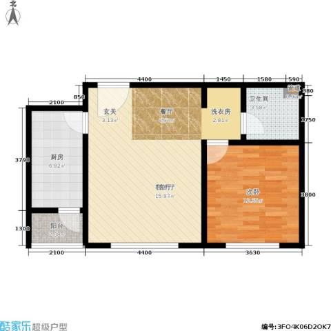 北京自在城1室1厅1卫1厨58.00㎡户型图