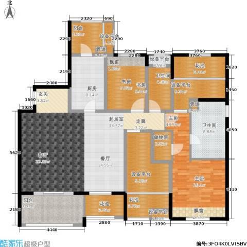 万科金色城市2室0厅2卫1厨159.00㎡户型图