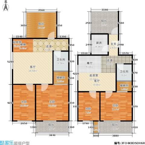 沁馥家园4室0厅2卫1厨148.00㎡户型图