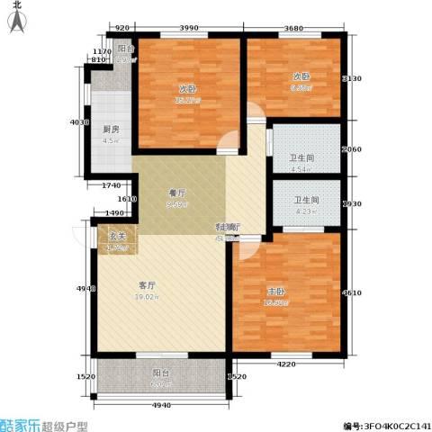 西湖新城3室1厅2卫0厨113.00㎡户型图