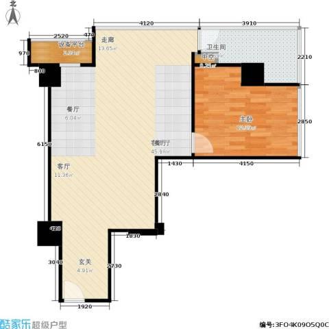 创汇 创汇・首座1室1厅1卫0厨83.00㎡户型图