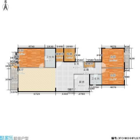 远见名苑3室1厅2卫1厨154.00㎡户型图