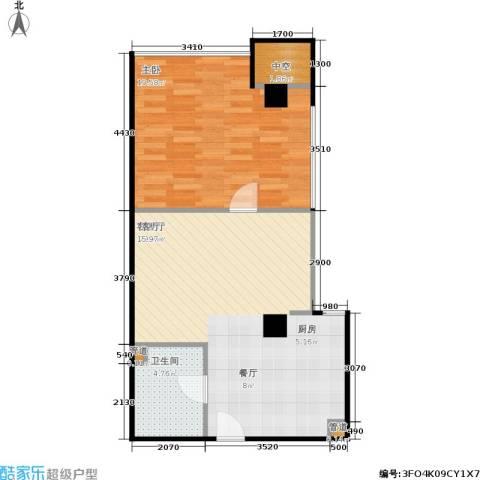 创汇 创汇・首座1室1厅1卫0厨59.00㎡户型图