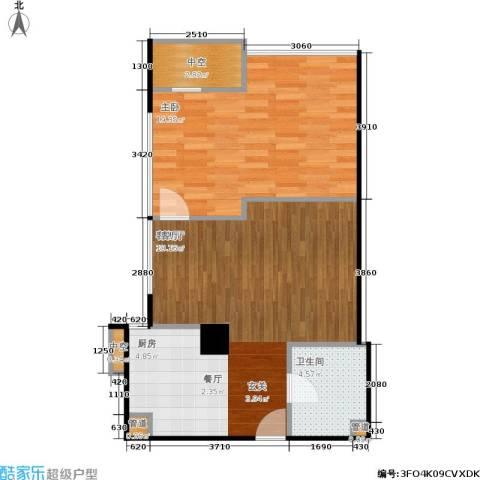 创汇 创汇・首座1室1厅1卫0厨60.00㎡户型图