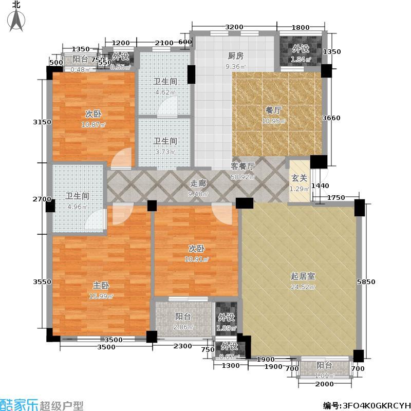 戈雅公寓132.28㎡面积13228m户型