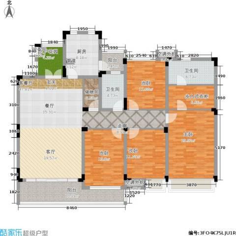 恒基誉珑湖滨4室1厅2卫1厨174.00㎡户型图