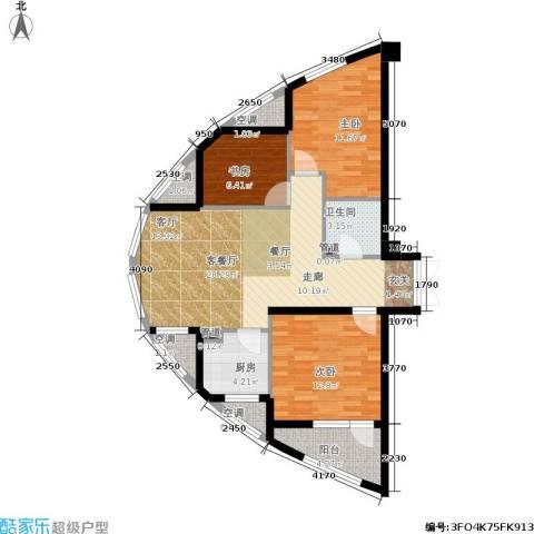 万马滨河城19193室1厅1卫1厨87.00㎡户型图