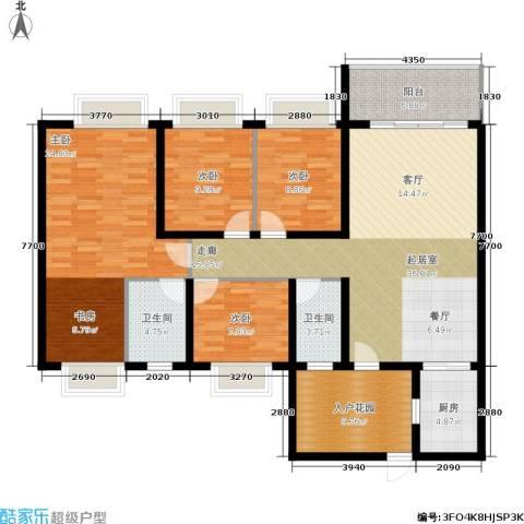 兴业花园4室0厅2卫1厨166.00㎡户型图