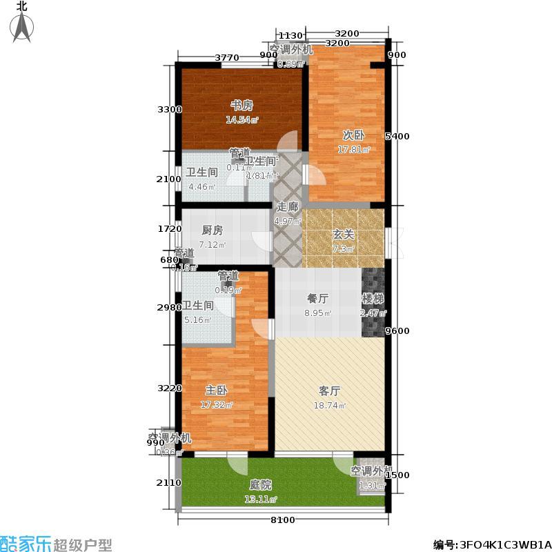嘉美风尚中心153.92㎡1号楼A1面积15392m户型