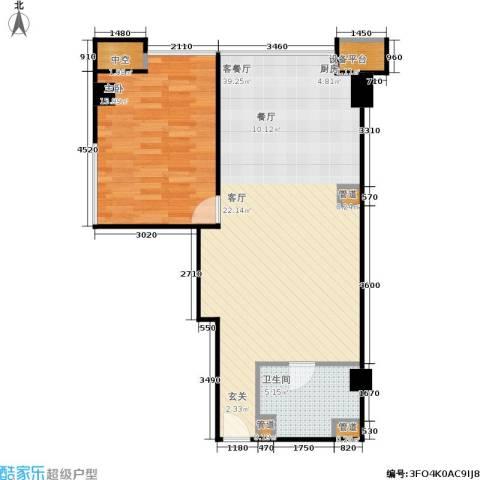 创汇 创汇・首座1室1厅1卫0厨67.00㎡户型图