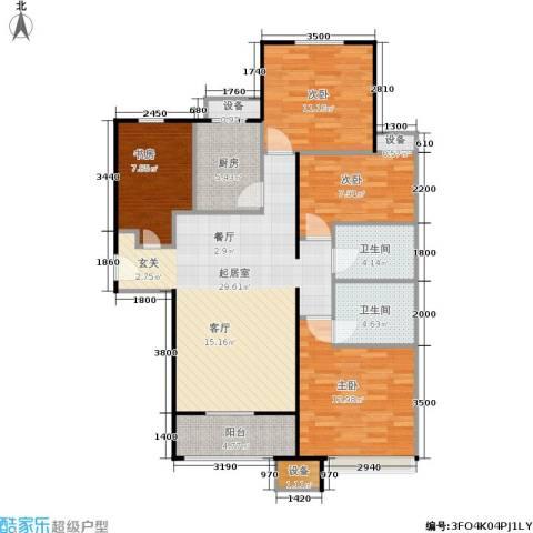 鸿坤·原乡溪谷4室0厅2卫1厨123.00㎡户型图