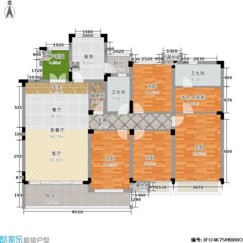 恒基誉珑湖滨4室1厅2卫1厨219.00㎡户型图