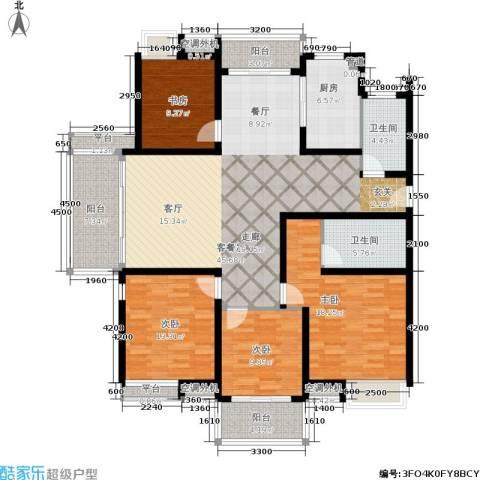 东海未名园4室1厅2卫1厨153.00㎡户型图