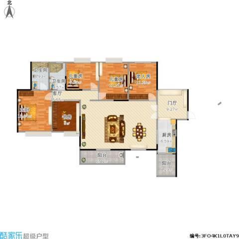 康联汇展中央5室1厅2卫1厨185.00㎡户型图