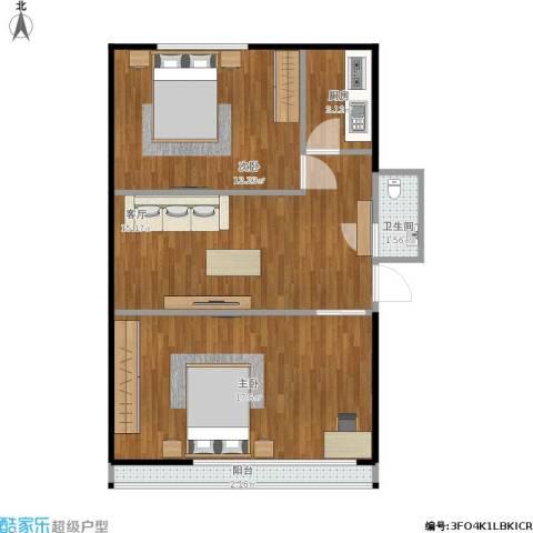 韩庄子西里2室1厅1卫1厨70.00㎡户型图