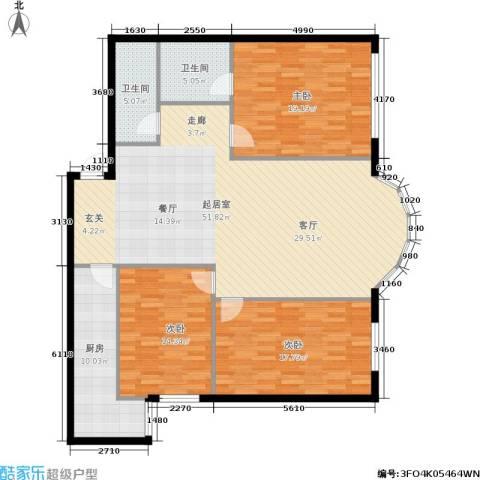 圣馨大地家园3室0厅2卫1厨167.00㎡户型图