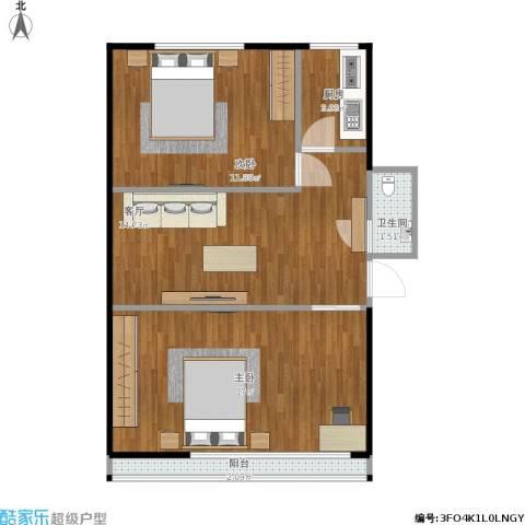 韩庄子西里2室1厅1卫1厨68.00㎡户型图