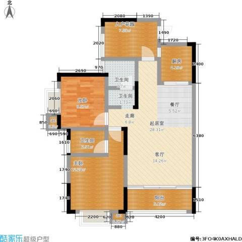 凯富漫城2室0厅2卫1厨88.00㎡户型图