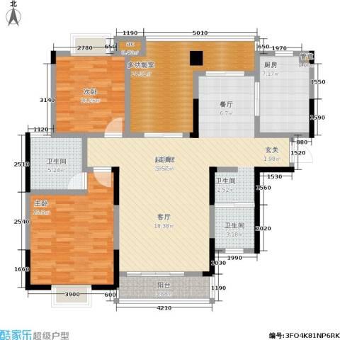 凯富漫城2室0厅2卫1厨124.00㎡户型图