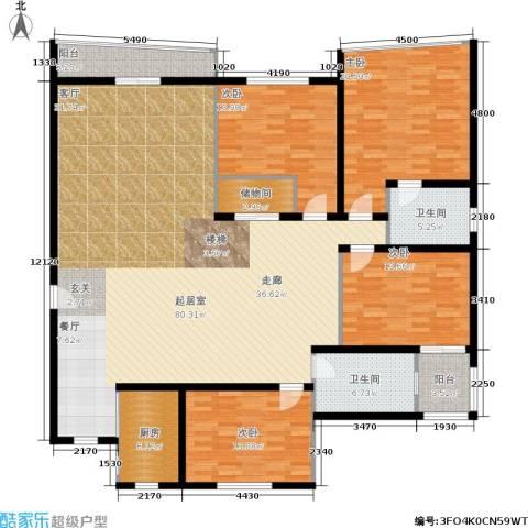 金都华庭4室0厅2卫1厨189.00㎡户型图