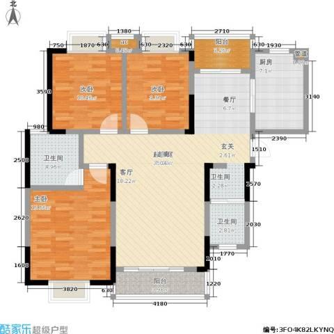 凯富漫城3室0厅2卫1厨137.00㎡户型图