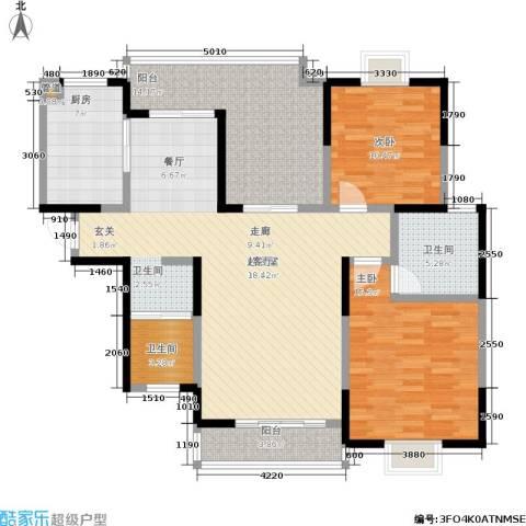 凯富漫城2室0厅2卫1厨123.00㎡户型图