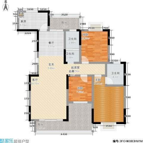 凯富漫城3室0厅2卫1厨130.00㎡户型图