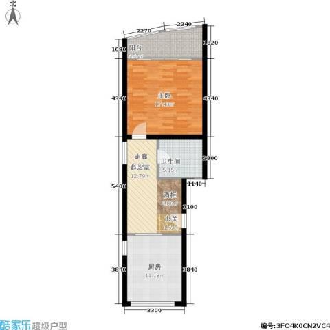 金都华庭1室0厅1卫1厨59.00㎡户型图