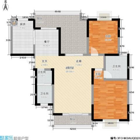凯富漫城2室0厅2卫1厨118.00㎡户型图
