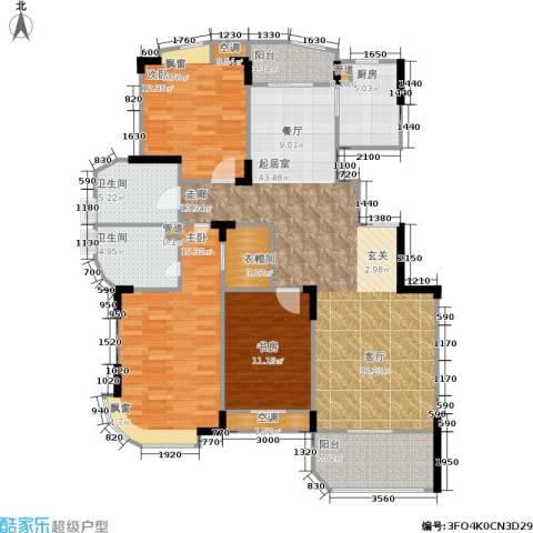 金都华庭3室0厅2卫1厨152.00㎡户型图